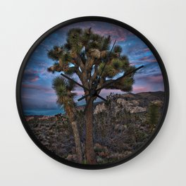 Joshua Tree Alone, Mojave Desert, California Wall Clock