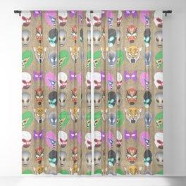 Lucha World Sheer Curtain