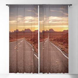 The Way West Monument Valley Arizona Sunset American West Landscape Blackout Curtain
