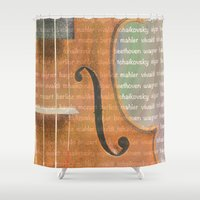 violin Shower Curtains featuring Violin by Imagology