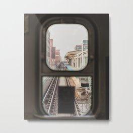Loop Bound - Chicago El Photography Metal Print