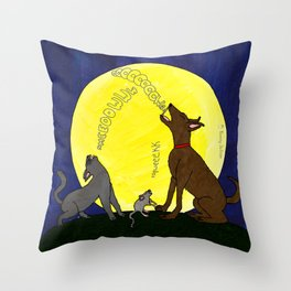 Singing to the Moon Throw Pillow