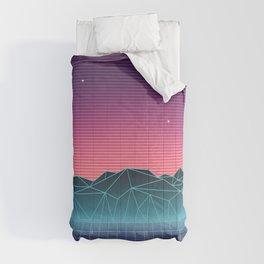 Vaporwave Landscape of the Future Comforters