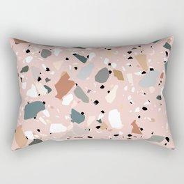 pale pink terrazzo with neutral flecks Rectangular Pillow