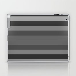Black and Gray Stripes Laptop & iPad Skin
