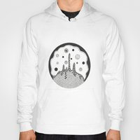 outer space Hoodies featuring Outer space by Malgorzata Zabawa