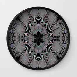Coloured Snowflake Wall Clock