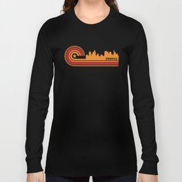 Retro Springfield Illinois Skyline Long Sleeve T-shirt