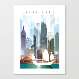 The city skyline of Hong Kong Canvas Print