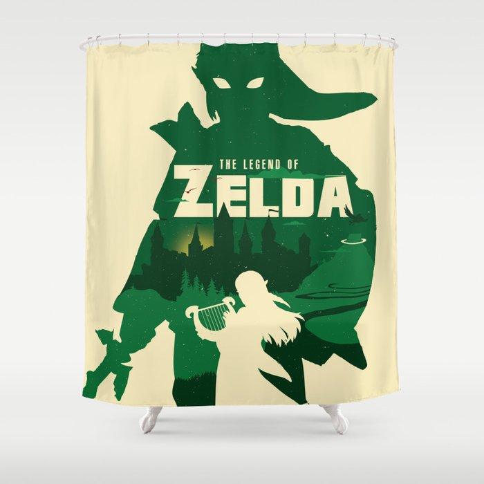 The Legend Of Zelda Minimalist Art Shower Curtain