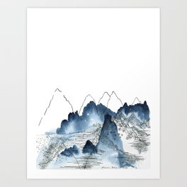 Love of Mountains Art Print