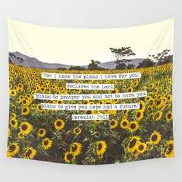Jeremiah Sunflowers Wall Tapestry