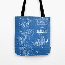 Legos Patent - Legos Brick Art - Blueprint Tote Bag
