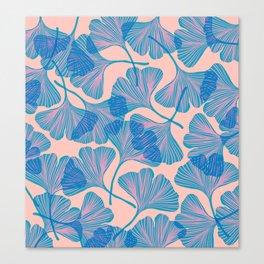 Abstraction_Ginkgo_Pattern_Minimalism_002 Canvas Print