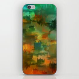 """""""Abstract forest in Autumn"""" iPhone Skin"""