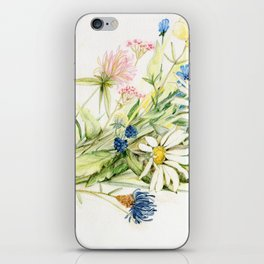 Bouquet of Wildflowers Original Colored Pencil Drawing iPhone Skin