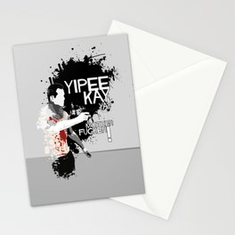 Movie Quote with-a-gun 2 Stationery Cards