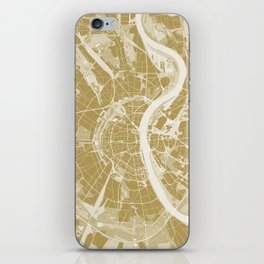 Cologne map gold iPhone Skin