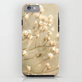 Softer I Botanical Flora Nature Neutral Tan Cream  iPhone Case