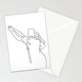 Lovers Dancing - Line Art Stationery Cards