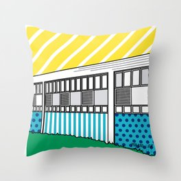 Pop Arq UCV Jardín Fau Throw Pillow