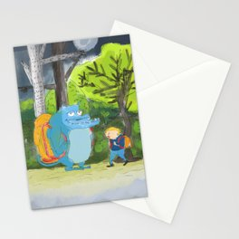 kid ant cute monster in the forest Stationery Cards