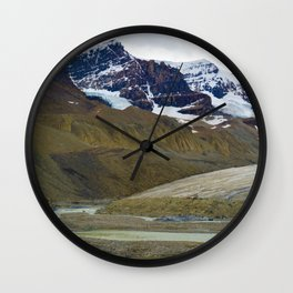 Athabasca Glacier in the Columbia Icefields, Jasper National Park Wall Clock