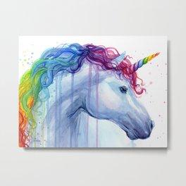 Magical Rainbow Unicorn Metal Print