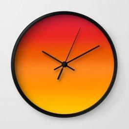 Mango Gradient Wall Clock