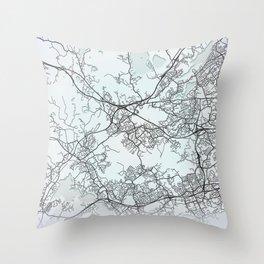Espoo, Finland, White, City, Map Throw Pillow