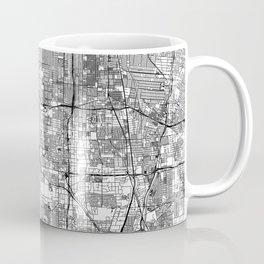 Los Angeles White Map Kaffeebecher