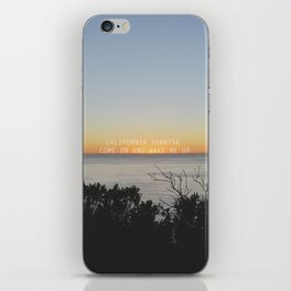 california sunrise come on and wake me up  iPhone Skin
