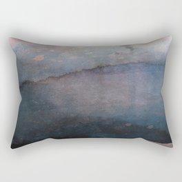 Rose Gold Blush Pink & Blue Watercolor Rectangular Pillow