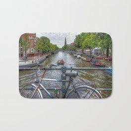 Amsterdam Bridge Canal View Bath Mat
