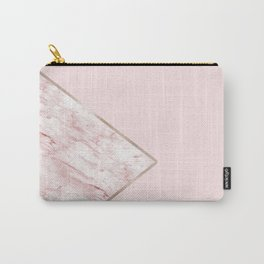 Blush pink geo - pink marble Carry-All Pouch