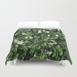 green/white Duvet Cover