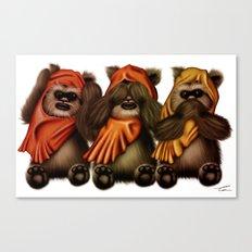 STAR WARS The Three Wise Ewoks Canvas Print