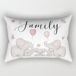 Elephant family Rectangular Pillow