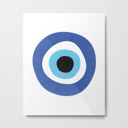 Evil Eye Symbol Metal Print