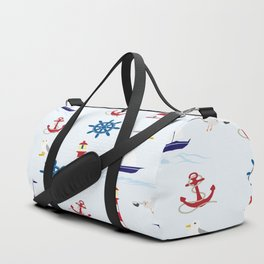 Nautical Collage Duffle Bag