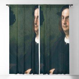 Raphael - Portrait of Andrea Navagero and Agostino Beazzano Blackout Curtain