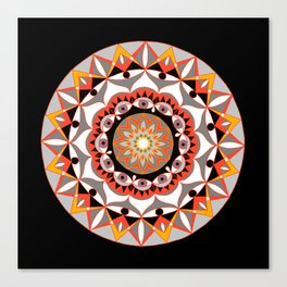 My Solar Plexus Mandhala | Secret Geometry | Energy Symbols Canvas Print