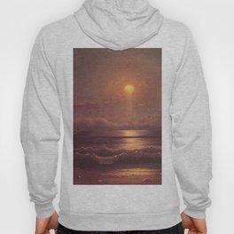 Sailing By Moonlight 1860 By Martin Johnson Heade | Reproduction Hoody