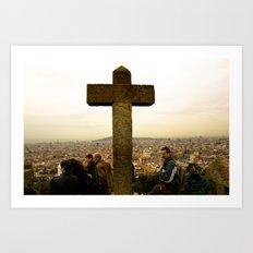 A top Barcelona Art Print