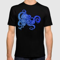 Ombre Octopus Mens Fitted Tee MEDIUM Black