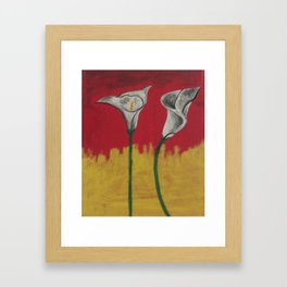 Sunshine Daffodils Handpainted  Framed Art Print