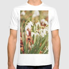 Snowdrops SMALL White Mens Fitted Tee