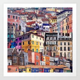 City Structures Collage Art Print