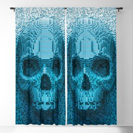 Pixel skull Blackout Curtain