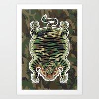 TIBETAN TIGER CAMOUFLAGE Art Print
